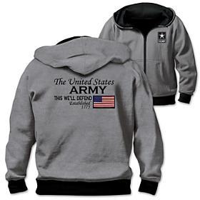 Reversible Military U.S. Army Men's Hoodie