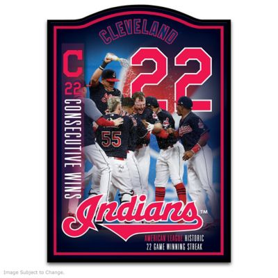 Cleveland Indians 2017 22-Game Winning Streak Wall Plaque by