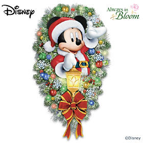 Disney A Very Merry Mickey Welcome Wreath