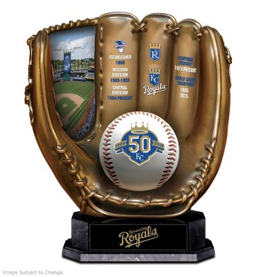 Kansas City Royals 50th Season Commemorative Glove Sculpture by