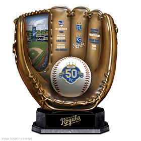Kansas City Royals 50th Season Commemorative Glove Sculpture