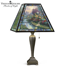 Thomas Kinkade Lamplight Bridge Lamp