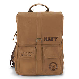 U.S. Navy Leather Backpack