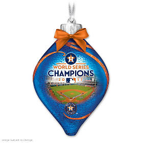 Astros 2017 World Series Champions Glass Ornament