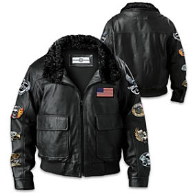 Ride Hard Live Free Men's Leather Jacket