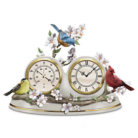 Nature's Timeless Moments Clock