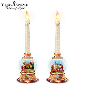 Thomas Kinkade Autumn's Warm Radiance Candleholders