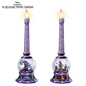 Nightmare Before Christmas Water Globe Candleholders
