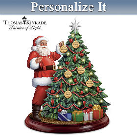 Thomas Kinkade Holiday Traditions Personalized Tabletop Tree