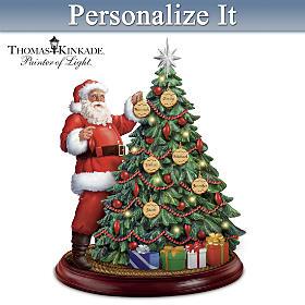 Thomas Kinkade Holiday Traditions Personalized Tabletop Tree