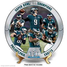 Super Bowl LII Champions Philadelphia Eagles Collector Plate