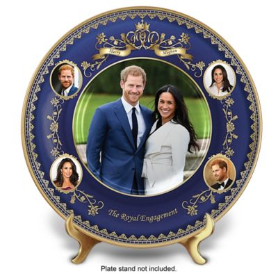 Prince Harry And Meghan Markle Engagement Collector Plate by