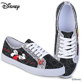 Classic Disney Canvas Glitter Women's Shoes