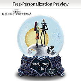 Simply Meant To Be Personalized Snow Globe