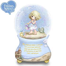 Footprints In The Sand Precious Moments Glitter Globe