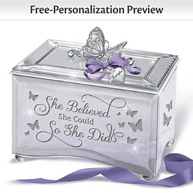 She Believed She Could So She Did Personalized Music Box