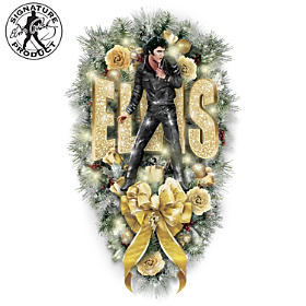 Elvis Rock N' Roll Teardrop Wreath
