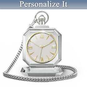 Timeless Wisdom To My Grandson Personalized Pocket Watch