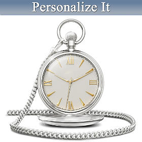 Our Love Is Timeless Personalized Pocket Watch