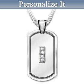 My Husband, My Friend Personalized Diamond Pendant Necklace