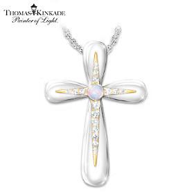 Thomas Kinkade Sunrise Glory Pendant Necklace