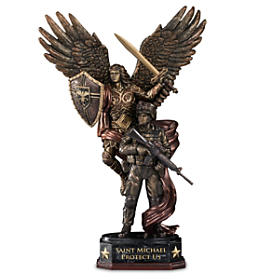 St. Michael Protect Us Sculpture
