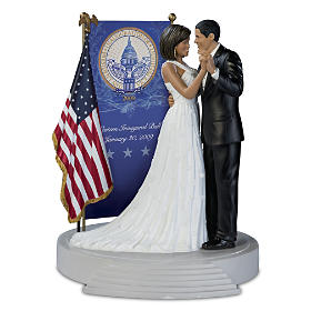 Barack And Michelle Obama Inaugural Ball Tribute Sculpture