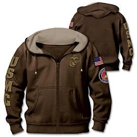 Military Pride Marine Corps Men's Hoodie