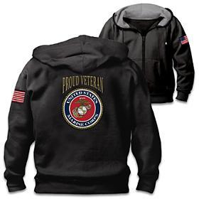 Veterans Pride Marine Corps Men's Hoodie