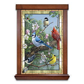 Window To Nature Stained Glass Wall Decor