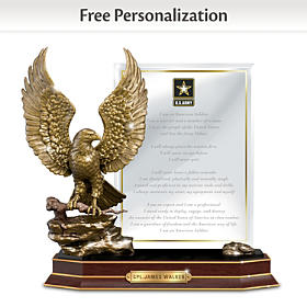 Army Honor Personalized Sculpture