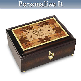 Together, We're A Family Personalized Music Box