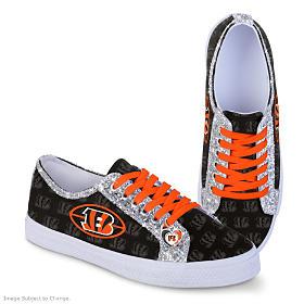 Cincinnati Bengals Glitter Women's Shoes