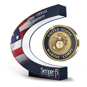 USMC: A Tribute To Excellence Levitating Medallion Sculpture