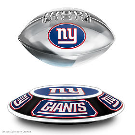 New York Giants Levitating Football Sculpture