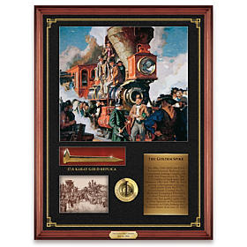 The Golden Spike 150th Anniversary Wall Decor