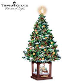 Thomas Kinkade A Holiday Homecoming Tabletop Tree