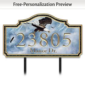 Eagle Majesty Personalized Address Sign