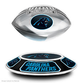 Carolina Panthers Levitating Football Sculpture
