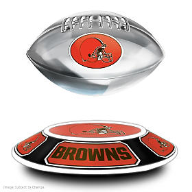 Cleveland Browns Levitating Football Sculpture