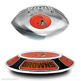 Cleveland Browns Levitating Football Sculpture