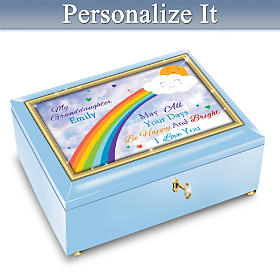 Granddaughter, You Brighten My Days Personalized Music Box