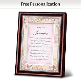 My Sister, My Best Friend Personalized Poem Frame