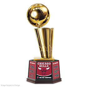 Chicago Bulls NBA Finals Trophy Sculpture