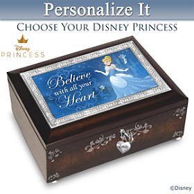 Disney Princess Personalized Music Box