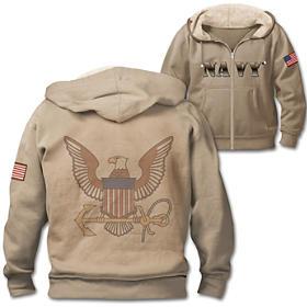 Military Pride Navy Men's Hoodie