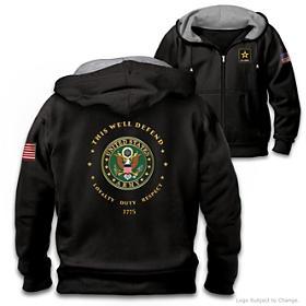 Proud To Serve U.S. Army Men's Hoodie