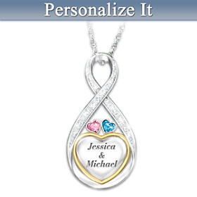 Forever In Love Personalized Diamond Pendant Necklace