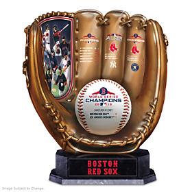 2018 World Series Champions Red Sox Glove Sculpture