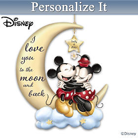 Disney I Love You To The Moon And Back Personalized Ornament